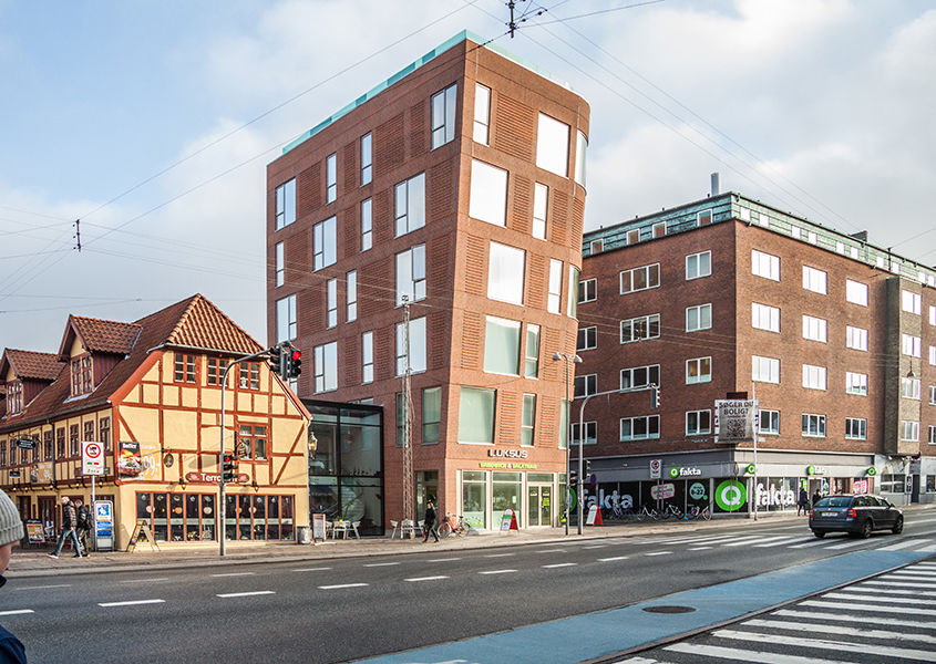Mixed-use development at Vesterbro in Aalborg, Denmark